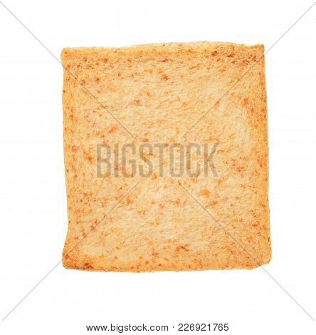 Isolate Wholewheat Bread, A Top View Closeup Photo Image Of Slice Wholewheat Bread Isolate On White
