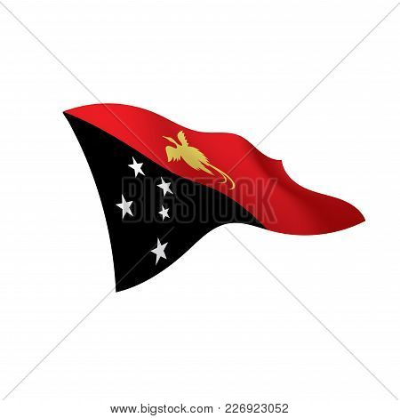 Papua New Guinea Flag, Vector Illustration On A White Background