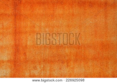Brown Grunge Rust Stain Texture On Iron Wall