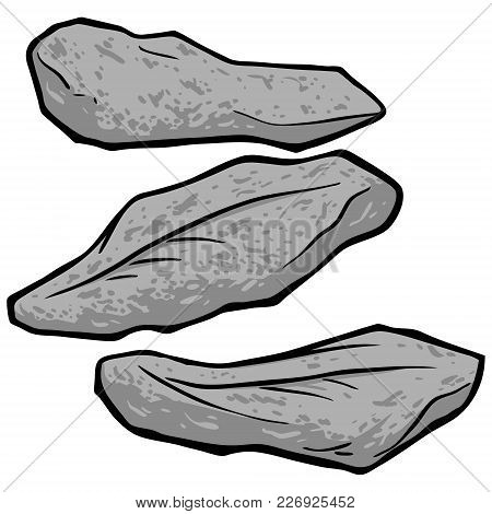 Fried Fish Illustration - A Vector Cartoon Illustration Of A Few Pieces Of Fried Fish.