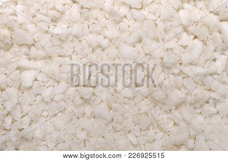 Salt Texture, A Closeup Photo Image On A Surface Of Sea Salt Crystals Pile, Texture Background, Salt