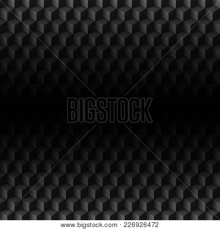 Abstract Geometric Technology Background. Black Texture With Shadow. Simple Background Texture. Carb