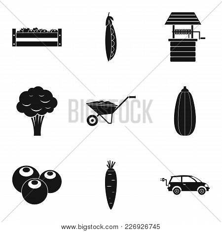 Productiveness Icons Set. Simple Set Of 9 Productiveness Vector Icons For Web Isolated On White Back