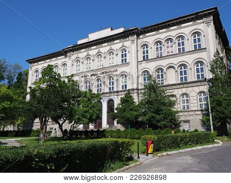 Bielsko-biala, Poland Europe On September 2017: Historical Building Of High School Of Administration