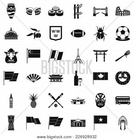 Republican Icons Set. Simple Set Of 36 Republican Vector Icons For Web Isolated On White Background