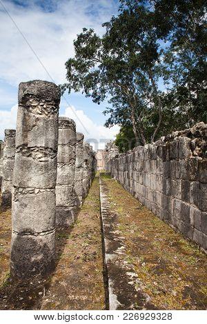Chichen Itza, Mexico - January 28, 2018: Majestic Ruins In Chichen Itza,mexico.chichen Itza Is A Com