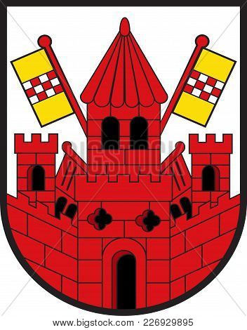 Coat Of Arms Of Unna Is A City In North Rhine-westphalia, Germany, The Seat Of The Unna District. Ve