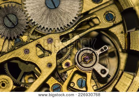 Mechanical Watch, Close Up, Gears, Mechanical Watch Repair