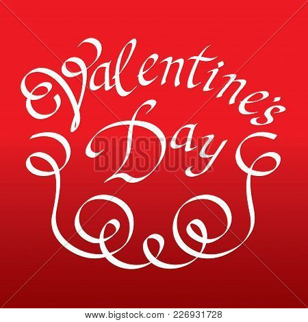 Valentines Day Vintage Lettering Vector Color Background