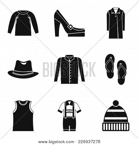 Upper Clothing Icons Set. Simple Set Of 9 Upper Clothing Vector Icons For Web Isolated On White Back