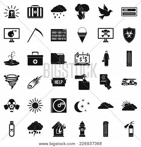 Wilderness Icons Set. Simple Set Of 36 Wilderness Vector Icons For Web Isolated On White Background