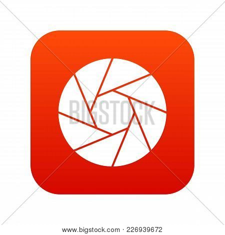 Little Objective Icon Digital Red For Any Design Isolated On White Vector Illustration