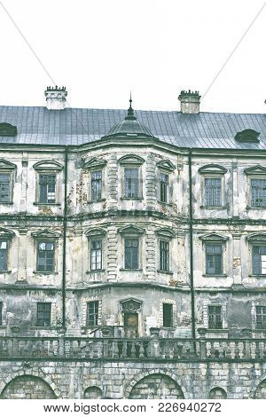Old Castle. Podgoretsky Castle. Elements Of The Architecture Of The Ancient Castle.  Podgoretsky  Re