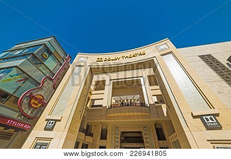 Los Angeles, Ca, Usa - November 02, 2016: Dolby Theatre In Hollywood Boulevard