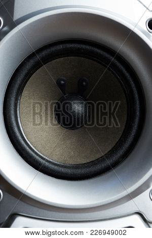 Audio Subwoofer System Theme. Modern Sound Woofer Technology