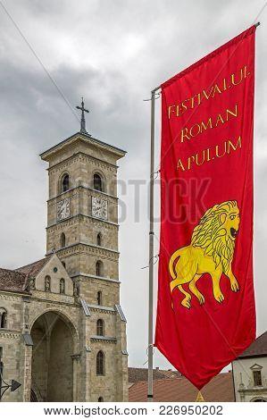 Alba Iulia, Romania - April 29, 2017: Catholic Cathedral Of The City In Citadel Of Alba Iulia City A