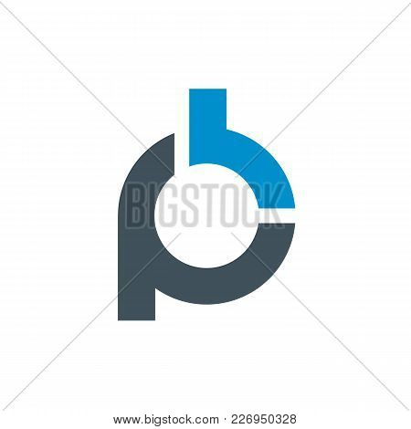 Logo Of Stylized Letter P And B. Clean And Simple Logo Template, Suitable For A Creative Company, St