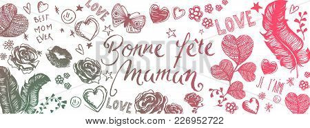 French Happy Mother's Day Background