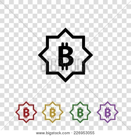 Bitcoin Vector Logo. Isolated On A Background
