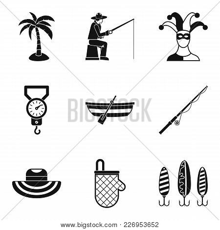 Hobby For Relaxation Icons Set. Simple Set Of 9 Hobby For Relaxation Vector Icons For Web Isolated O