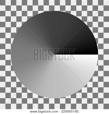 Circular Monochrome Gradation Of Gray Color Gradient From Black To White, Vector Black And White Spe