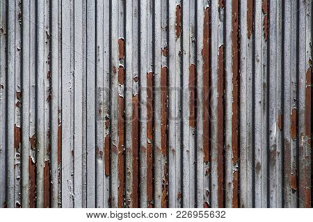 Old Zinc Galvanized Sheet Of Metal As A Texture Or For Background