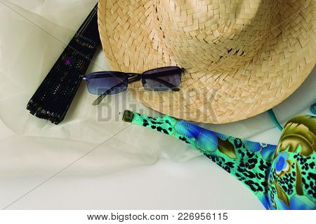Summer Season. Common Complements In Summer To Go To The Beach.