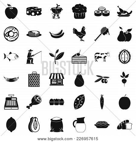 Verdant Icons Set. Simple Set Of 36 Verdant Vector Icons For Web Isolated On White Background