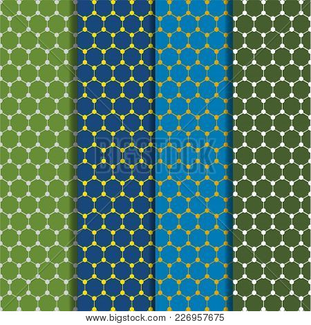 Hexagon Seamless Pattern Vector Illustration. You Can Use Web App And Other