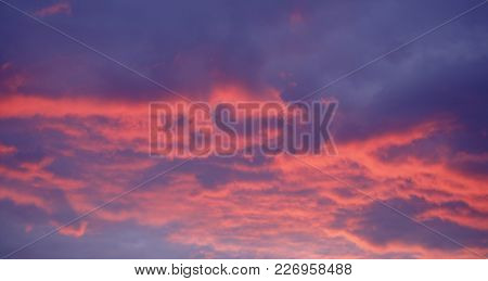 Beautiful Red Sky At Night - Sunset Colors