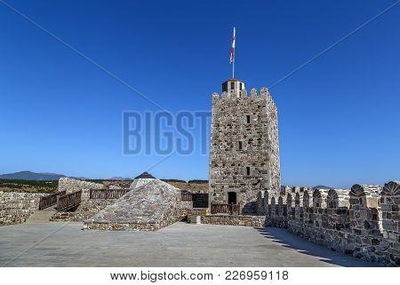 Rabati Castle Is A Medieval Castle Complex In Akhaltsikhe, Georgia. Tower Of Jakeli Castle