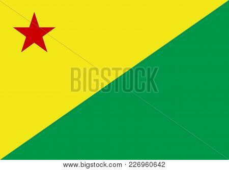 Acre State Brazil Province Region Flag Symbol