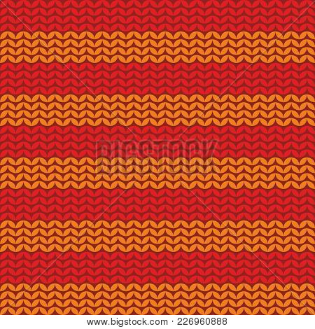Tile Knitting Vector Pattern Or Winter Background