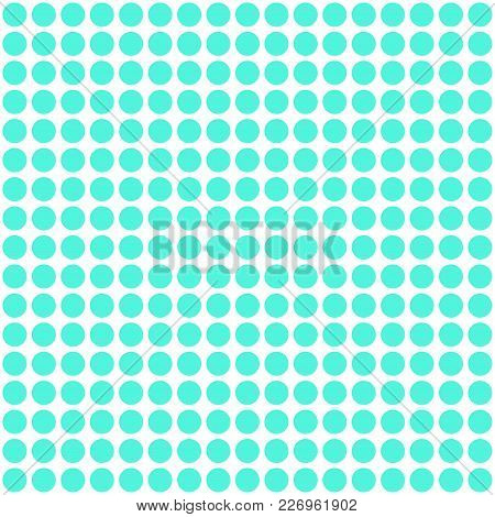 Background Seamless Pattern With Cyan Color Dots Vector
