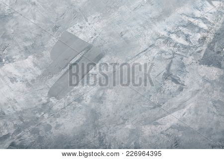 Texture Ice. Close. Light Coloured. Cold. Track. For Your Design.