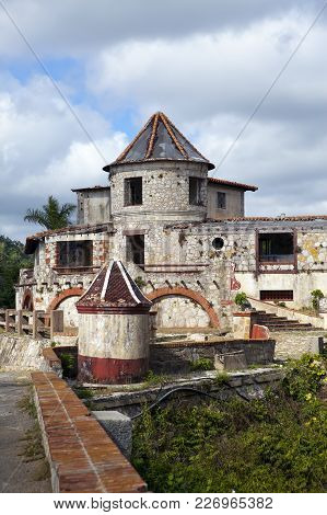 The empty, abandoned house in mountains, Cuba