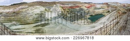 A Panorama Or A Panoramic View Of Calcium Bentonite Quarry, Located In The Area Of A Bentonite Proce