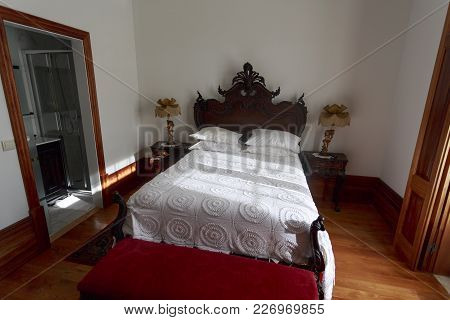 Amarante, Portugal - September 23, 2017: Elegant And Beautiful Setup For A Bed And Breakfast Stay In