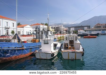 Small Port Of The City Of Kalamata In The Peloponnese. Greece