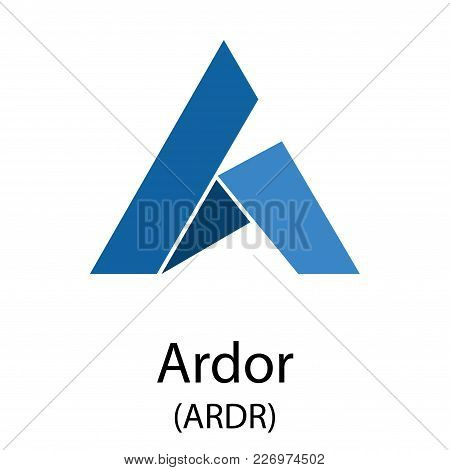 Colorful Ardor Cryptocurrency Symbol Isolated On White Background
