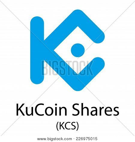 Colorful Kucoin Shares Cryptocurrency Symbol Isolated On White Background