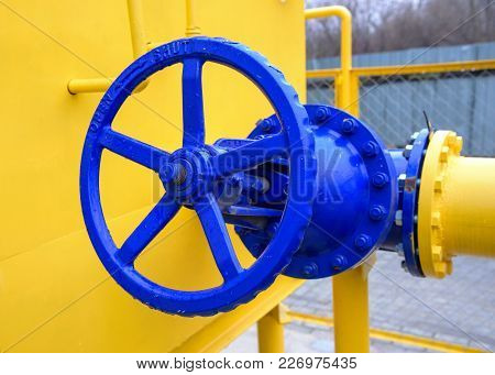 Big Valve Of Natural Gas Station Pipeline Equipment