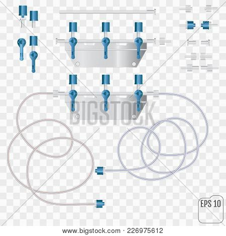 System For Intravenous Infusion With A Reducer. System For Intra
