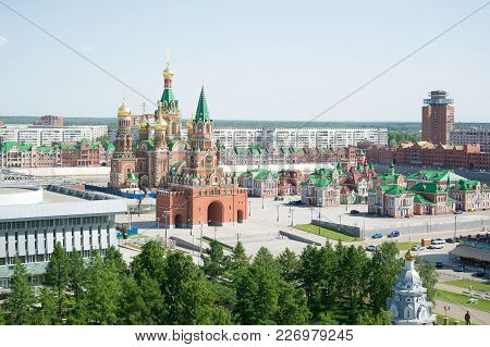 Yoshkar-ola, Russia - June 28, 2015 View Of The Central Part Of The City.