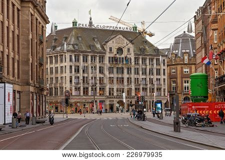 Amsterdam, Netherlands - June 25, 2017: View To The Madame Tussauds Amsterdam Wax Museum From The Da