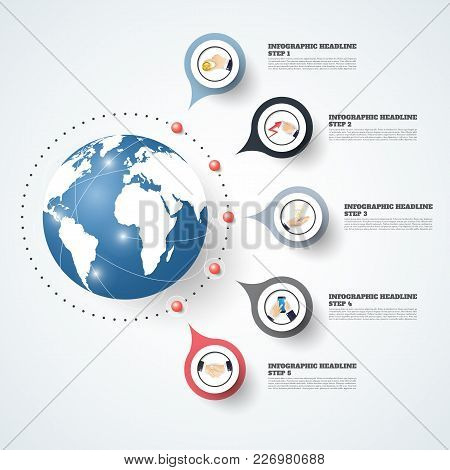 Abstract Infographics Number Options Template. Vector Illustration. Can Be Used For Workflow Layout,