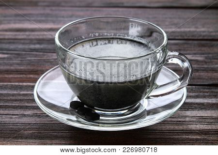 Coal Latte. Black Cappuccino. Black Coffee With Activated Carbon