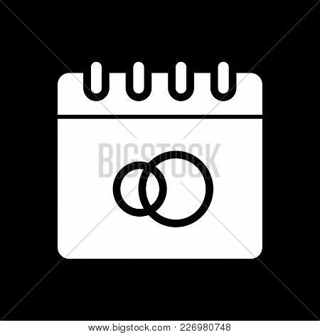 Wedding Date Vector Icon. Lovers Icon. Wedding Element Icon. Flat Solid Design. Signs, Symbols Colle