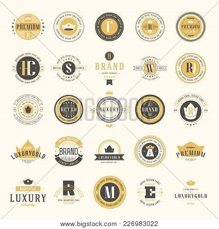 Retro Vintage Logotypes Set. Vector Design Elements, Business Signs, Logos, Identity, Labels, Badges
