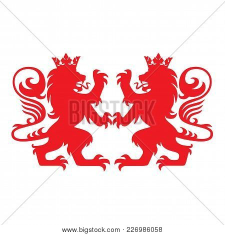 Royal Lion Heraldry Heraldic  Logo Mascot Vector